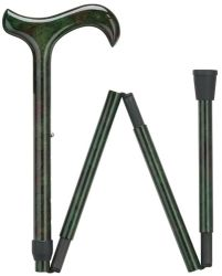 Ladie's Green Folding Carbon Fiber Cane