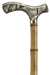 Light Brown Fritz Acrylic Handle Bamboo Cane