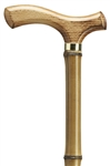 Scorched Fritz Handle Bamboo Cane