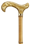 Golden Acrylic Derby Handle Bamboo Cane