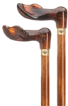 Amber Palm Handle Cane - Left Hand/Cherry Shaft