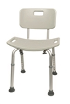 Aluminum Shower Chair - 400 lbs Capacity