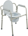 Steel Bedside Economical Commode Chair