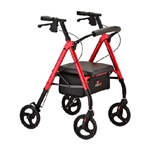 4 Wheel Rollator Star 8 Red Aluminum Frame