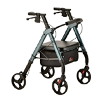 4 Wheel Rollator Star Blue Heavy Duty Aluminum Frame