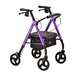 4 Wheel Rollator Star 8 Black Aluminum Frame