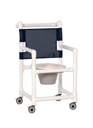 Commode/Shower Chair Combo with Fixed Arms