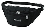Fanny Pack Black Polyester 13.5 X 5.5 X 3.5 Inch