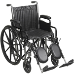 Silver Sport 2 Wheelchair with Detachable Full Arm and Swing-Away Elevating Leg Rests
