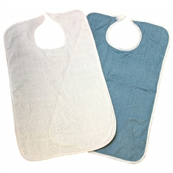 Hook and Loop Closure Terry Cloth Bib.