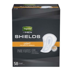 Bladder Control Pad Depend Shields for Men Light