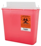 McKesson 2-Piece Red Sharps Container