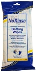 No Rinse Bathing Wipes - Pk/8