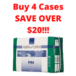Bundle of 4 Cases of 42 - Abena Abri Form M4 X-Plus Plastic-Back Adult Diapers