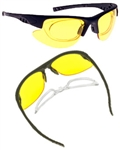 NoIR 100% UV Protection Wrap-Around Sunglasses with Blank Rx Insert