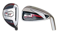 Package Set of 3-PW Heater B6 Hybrid/Iron Combo, Heater B6 9.5° Driver, 3 & 5 Woods, & Black Ghost Putter