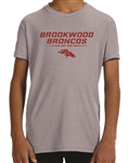 Brookwood Broncos Design on Moisture Wicking T-Shirt