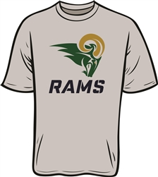 Pharr Rams Design on Short Sleeve Moisture Wicking T-Shirt