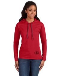 Ladies' Lightweight Long-Sleeve Hooded T-Shirt