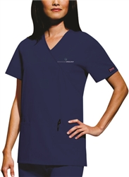 CK4801 - Women's Mock Wrap Tunic - 3 Pocket Top