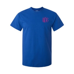 monogrammed short sleeved t-shirt