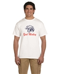 Yak Motley Short Sleeve Cotton T-Shirt with Eagle Logo