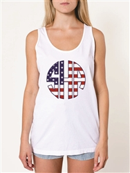 American Flag Monogram Tank Top