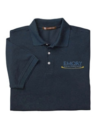 Harriton Women's 5.6 oz. Easy Blend Polo WIth Emory Logo
