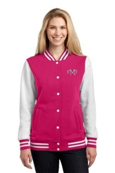Ladies Fleece Letterman Jacket