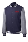 Men's Fleece Letterman Jacket