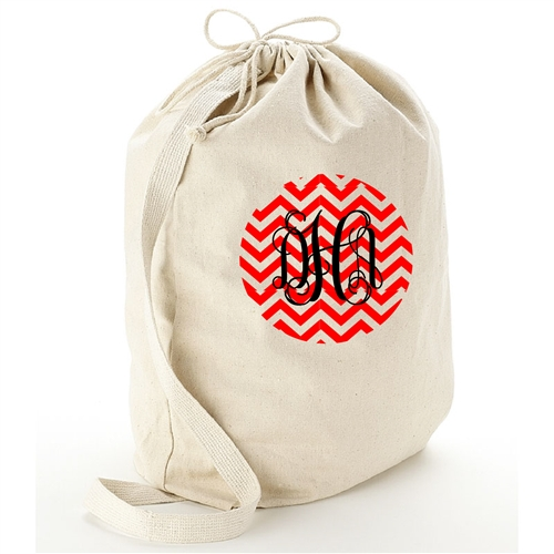 Personalized Large Canvas Laundry Bag