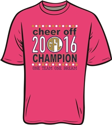 Cheer Off 2016 Champion Short Sleeve T-Shirt