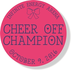 "3.75"" Neon Pink 2016 Champion Bag Tag"
