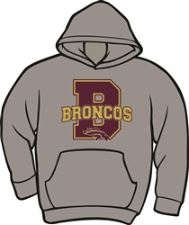 Brookwood Broncos Design on Hoodie