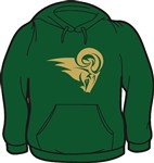 Grayson Ram Head Design on Hoodie Sweatshirt