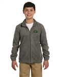 Grayson Embroidered Logo on Full Zip Fleece Jacket