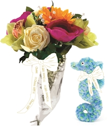 Large Mixed Flower Bouquet with Commemorative Seahorse