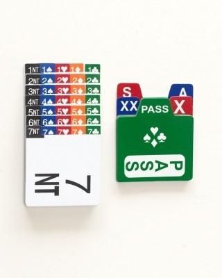 Bridge Buddy Bidding Box Set with PVC Cards