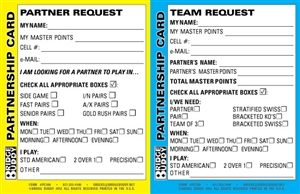 Double Sided Partner and Team Request Cards - Pack of 500