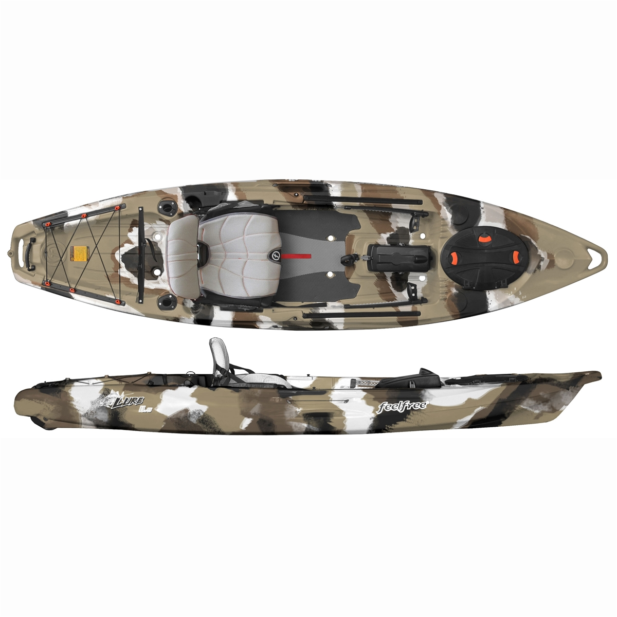 Feelfree Lure 11 5 Kayak With Overdrive Pedal Drive
