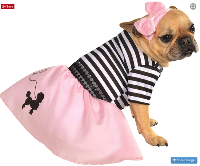Rubie's Pink Fifties Girl Pet Costume