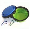 Comsun Collapsible Dog Bowl, Food Grade Silicone BPA Free FDA Approved, Foldable Expandable Cup Dish for Pet Cat Food Water Feeding Portable Travel Bowl Free Carabiner