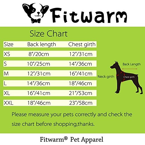 dd36bdeddef5 Fitwarm Knitted Thermal Pet Clothes for Dog Pajamas PJS Coat Jumpsuit