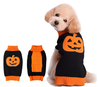 BOBIBI Pet Clothes The Halloween Pumpkin Cat Dog Sweater, Dog Knitwear, Dog Apparel, Pet Sweatshirt