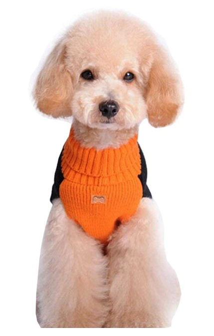 d3796af8 BOBIBI Pet Clothes The Halloween Pumpkin Cat Dog Sweater, Dog Knitwear, Dog  Apparel, Pet Sweatshirt