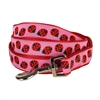 Blueberry Pet Pink Flamingo on Light Emerald or Red Ladybug Dog Leash