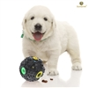 SunGrow Interactive Dog & Cat Toy by Food Puzzle Ball - Treat dispenser for puppies, small and medium pets - Increase IQ, Boredom buster - Provide hours of fun & Entertainment with duck-like sound