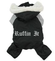 Black and Grey Ruffin It Dog Snow Suit Harness
