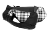 Alpine All-Weather Dog Coat - Black and White Plaid