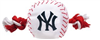 NEW YORK YANKEES DOG TOY – NYLON W/ROPE
